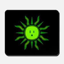 Green Electric Sun Mousepad