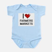 I love Farmers Markets digital design Body Suit