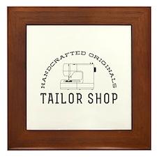 Tailor Shop Framed Tile