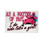 Ride Like a Girl - Snow Rectangle Magnet (10 pack)