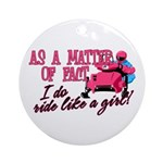 Ride Like a Girl - Snowmobile Ornament (Round)