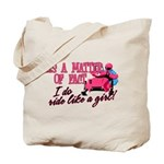 Ride Like a Girl - Snowmobile Tote Bag