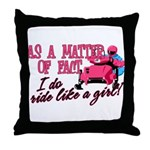 Ride Like a Girl - Snowmobile Throw Pillow