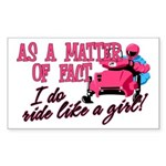Ride Like a Girl - Snowmobile Sticker (Rectangle)