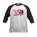 Ride Like a Girl - Snowmobile Kids Baseball Jersey