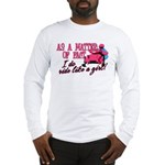 Ride Like a Girl - Snowmobile Long Sleeve T-Shirt