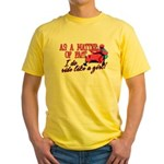 Ride Like a Girl - Snowmobile Yellow T-Shirt