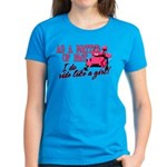 Ride Like a Girl - Snowmobile Women's Dark T-Shirt