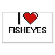 I love Fisheyes digital design Decal