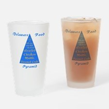 Delaware Food Pyramid Drinking Glass