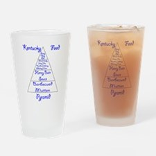 Kentucky Food Pyramid Pint Glass