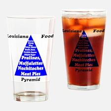 Louisiana Food Pyramid Pint Glass