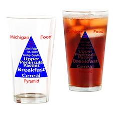 Michigan Food Pyramid Pint Glass