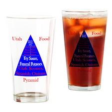 Utah Food Pyramid Drinking Glass