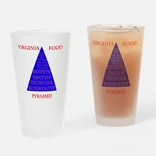 Virginia Food Pyramid Drinking Glass