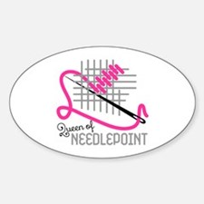Queen Of Needle Point Decal