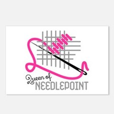 Queen Of Needle Point Postcards (Package of 8)