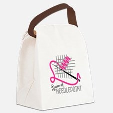 Queen Of Needle Point Canvas Lunch Bag