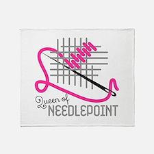 Queen Of Needle Point Throw Blanket