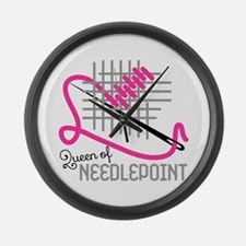 Queen Of Needle Point Large Wall Clock