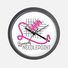 Queen Of Needle Point Wall Clock
