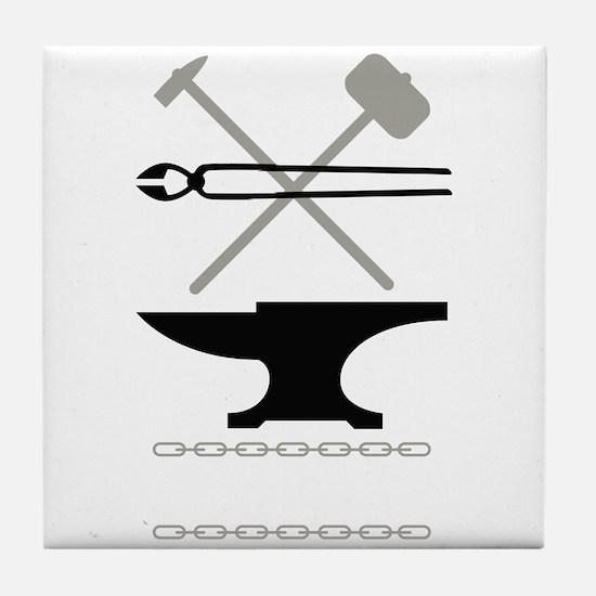 Blacksmith Tools Tile Coaster