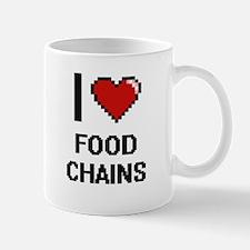 I love Food Chains digital design Mugs