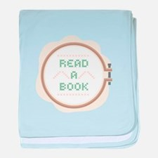 Read A Book baby blanket