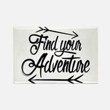 Find Adventure Rectangle Magnet