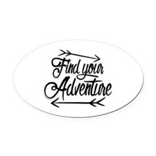 Find Adventure Oval Car Magnet