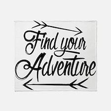 Find Adventure Throw Blanket