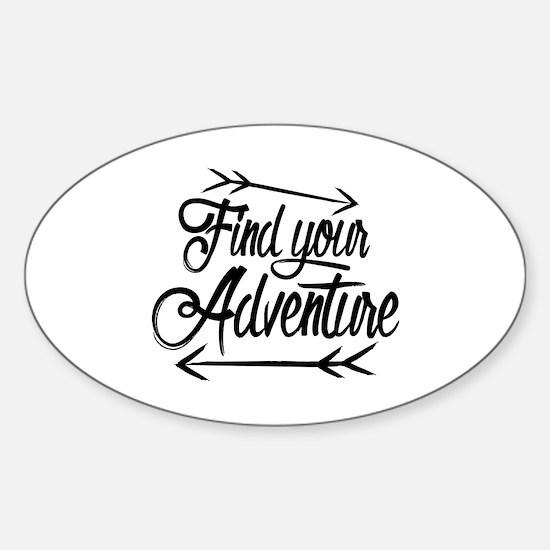 Find Adventure Sticker (Oval)