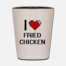I love Fried Chicken digital design Shot Glass