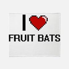 I love Fruit Bats digital design Throw Blanket