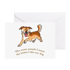 I Like My Dog Greeting Card