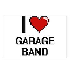 I love Garage Band digita Postcards (Package of 8)