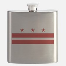 DC Washington Flag Flask
