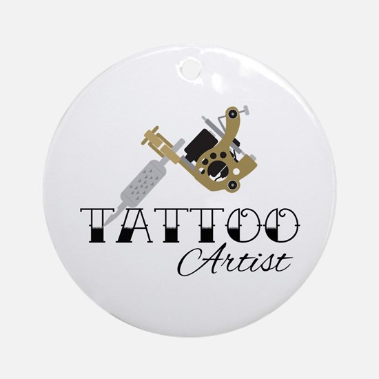 Tattoo Artist Round Ornament