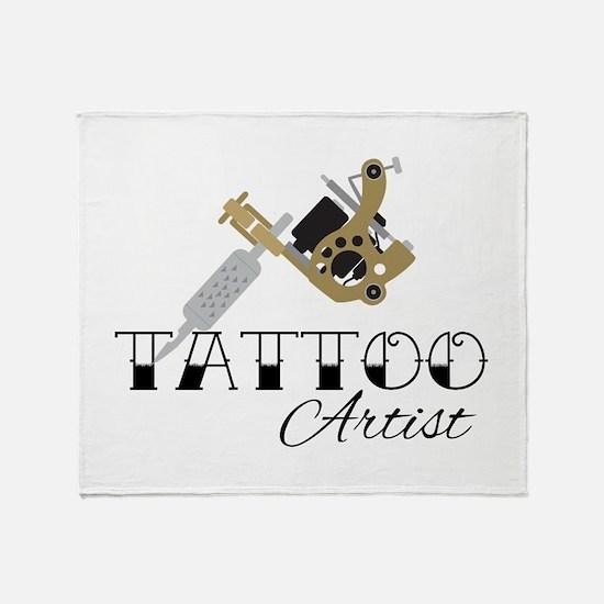 Tattoo Artist Throw Blanket