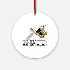 Tattoo Inked Round Ornament