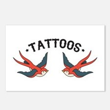 Tattoo Sparrows Postcards (Package of 8)
