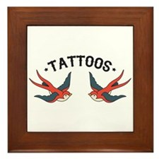 Tattoo Sparrows Framed Tile