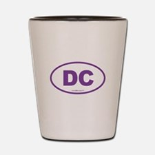 Washington DC Euro Oval PURPLE Shot Glass