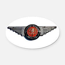 Defunct Logo Oval Car Magnet