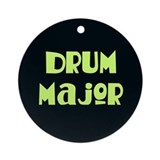 Band drum major christmas Round Ornaments