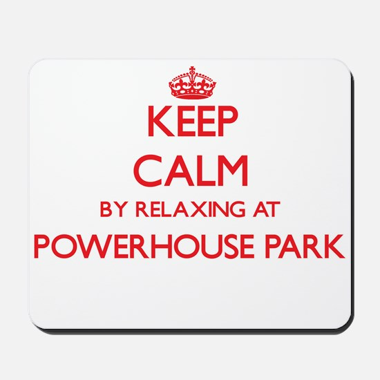 Keep calm by relaxing at Powerhouse Park Mousepad