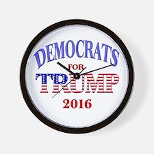 Democrats for Trump Wall Clock