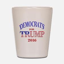 Democrats for Trump Shot Glass