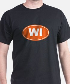 Wisconsin WI Euro Oval T-Shirt