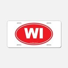 Wisconsin WI Euro Oval Aluminum License Plate